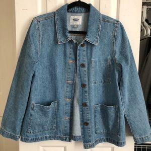 Old Navy Button Front Denim Chore Jacket